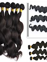 Недорогие -6 Связок Бразильские волосы Перуанские волосы Естественные кудри Натуральные волосы Необработанные натуральные волосы Подарки Косплей Костюмы Головные уборы 8-28 дюймовый Естественный цвет