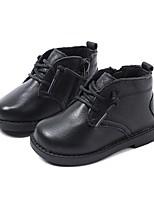 Недорогие -Мальчики / Девочки Обувь Кожа Зима Удобная обувь / Обувь для малышей Ботинки для Дети (1-4 лет) Черный / Красный / Розовый