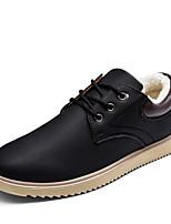 Недорогие -Муж. Комфортная обувь Полиуретан Зима На каждый день Кеды Сохраняет тепло Черный / Желтый / Синий