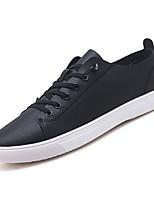 Недорогие -Муж. Комфортная обувь Полиуретан Зима На каждый день Кеды Нескользкий Белый / Черный