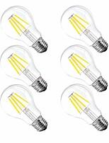 Недорогие -6шт 4 W 120 lm E26 / E27 LED лампы накаливания A60(A19) 4 Светодиодные бусины Высокомощный LED Диммируемая Тёплый белый 110-130 V