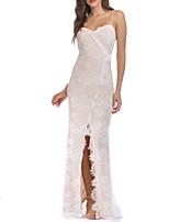 baratos -Mulheres Básico Bainha Vestido - Renda Longo