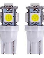 abordables -2pcs T10 Moto / Automatique Ampoules électriques 1 W SMD 5050 80 lm 5 LED Clignotants / Éclairage intérieur Pour Universel Universel