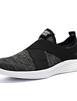 Недорогие -Муж. Комфортная обувь Полиуретан Зима На каждый день Мокасины и Свитер Нескользкий Контрастных цветов Черный / Серый
