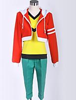 abordables -Inspiré par Inazuma Eleven Etudiant / Uniforme d'écolier Manga Costumes de Cosplay Costumes Cosplay Couleur Mélangée Manteau / Pantalon / Tee-shirt Pour Homme / Femme