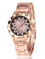 Недорогие -Жен. Нарядные часы Наручные часы Кварцевый Повседневные часы сплав Группа Аналоговый Мода Элегантный стиль Розовое золото - Розовое золото