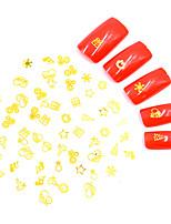 Недорогие -Искусственные советы для ногтей 3D наклейки на ногти Стразы для ногтей 3D интерфейс / Специальный дизайн / Антифрикционное Тату с тотемом Тату со стразами Романтическая серия маникюр Маникюр педикюр