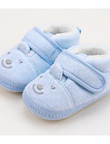 Недорогие -Девочки Обувь Хлопок Зима Удобная обувь / Обувь для малышей Ботинки для Ребёнок до года Розовый / Светло-синий / Миндальный