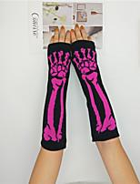 Недорогие -женские перчатки без рукавов - печать
