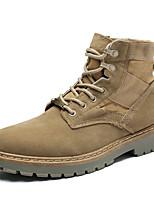 Недорогие -Муж. Комфортная обувь Сетка Наступила зима На каждый день Кеды Черный / Хаки