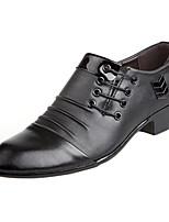 Недорогие -Муж. Официальная обувь Полиуретан Наступила зима Кеды Дышащий Черный / Коричневый