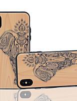 Недорогие -Cooho Кейс для Назначение Apple iPhone X / iPhone XS Max Бумажник для карт / Защита от удара / Защита от пыли Кейс на заднюю панель Имитация дерева Твердый ПК для iPhone 7 Plus / iPhone 6 Plus