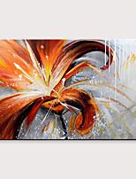 abordables -Peinture à l'huile Hang-peint Peint à la main - Abstrait / A fleurs / Botanique Moderne Sans cadre intérieur