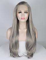 Недорогие -Синтетические кружевные передние парики Жен. Кудрявый Темно-серый Свободная часть 180% Человека Плотность волос Искусственные волосы 18-26 дюймовый Регулируется / Кружева / Жаропрочная Темно-серый