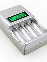 abordables -1pc 100-240 V Design nouveau / Cool / pour pile AA ABS + PC Chargeur de batterie