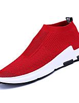 Недорогие -Муж. Комфортная обувь Эластичная ткань / Tissage Volant Зима На каждый день Мокасины и Свитер Нескользкий Черный / Серый / Красный