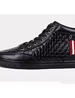 Недорогие -Муж. Комфортная обувь Кожа Зима Кеды Черный