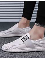 Недорогие -Муж. Комфортная обувь Полотно Лето Мокасины и Свитер Белый / Черный / Серый