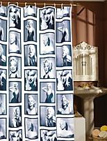 Недорогие -Занавески и крючки Современный Полиэстер Новый дизайн / Cool Ванная комната