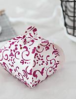 Недорогие -Цветочный узор Картон Фавор держатель с Узоры / принт Подарочные коробки - 12шт