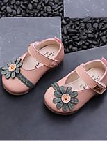 Недорогие -Девочки Обувь Синтетика Весна & осень Детская праздничная обувь На плокой подошве Цветы / На липучках для Дети (1-4 лет) Бежевый / Розовый