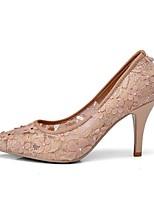 Недорогие -Жен. Сетка Весна лето На каждый день Обувь на каблуках На шпильке Заостренный носок Белый / Красный / Светло-коричневый