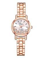 Недорогие -Жен. Наручные часы Кварцевый Серебристый металл / Розовое золото Новый дизайн Повседневные часы Имитация Алмазный Аналоговый На каждый день Мода -  / Один год / Один год