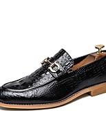 Недорогие -Муж. Обувь для новинок Искусственная кожа Наступила зима Классика / Английский Мокасины и Свитер Амортизирующий Черный / Коричневый