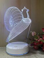 Недорогие -1шт 3D ночной свет Тёплый белый USB Cool <=36 V