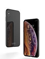 Недорогие -Nillkin Кейс для Назначение Apple iPhone XR / iPhone XS Max Защита от удара / Зеркальная поверхность / С узором Кейс на заднюю панель Однотонный Твердый Закаленное стекло / ПК для iPhone XS / iPhone