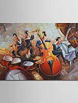 abordables -Peinture à l'huile Hang-peint Peint à la main - Abstrait Nature morte Moderne Sans cadre intérieur / Toile roulée