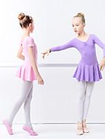abordables -Danse classique Robes Fille Entraînement / Utilisation Elasthanne / Lycra Ruché / Ondulé Manches Longues Robe