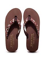 Недорогие -Женские тапочки Домашние тапки Кружевная кромка Этиленвинилацетат Вышивка Обувь
