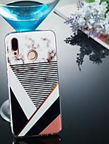 Недорогие -Кейс для Назначение Huawei P20 Pro / P20 lite IMD / С узором Кейс на заднюю панель Мрамор Мягкий ТПУ для Huawei P20 / Huawei P20 Pro / Huawei P20 lite