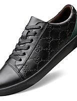 Недорогие -Муж. Официальная обувь Полотно / Кожа Весна & осень На каждый день / Английский Кеды Массаж Белый / Черный / Для вечеринки / ужина