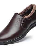 Недорогие -Муж. Комфортная обувь Микроволокно Зима На каждый день Мокасины и Свитер Сохраняет тепло Черный / Желтый / Коричневый / Для вечеринки / ужина