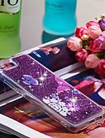 Недорогие -Кейс для Назначение Huawei Honor 10 Защита от удара / Сияние и блеск Кейс на заднюю панель Бабочка / Сияние и блеск Мягкий ТПУ для Huawei Honor 10
