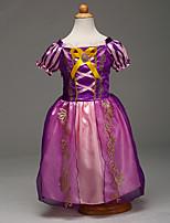 abordables -Sofia Costume de Cosplay Fille Enfant Robes Noël Halloween Carnaval Fête / Célébration Tulle Coton Tenue Violet Princesse