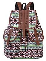 Недорогие -Жен. Мешки холст рюкзак Молнии Синий / Зеленый