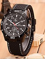 Недорогие -Жен. Наручные часы Кварцевый Кожа Черный Повседневные часы Аналоговый Мода Цветной - Белый Красный Один год Срок службы батареи / SSUO 377