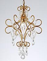 abordables -JLYLITE Cristal Lustre Lumière d'ambiance Finitions Peintes Métal Cristal 110-120V / 220-240V