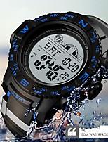 Недорогие -SKMEI Муж. электронные часы Цифровой Черный 50 m Защита от влаги Календарь Секундомер Цифровой На каждый день Мода - Черный Красный Синий / Хронометр / Фосфоресцирующий
