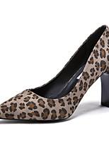Недорогие -Жен. Полиуретан Весна & осень Обувь на каблуках Блочная пятка Заостренный носок Желтый / Хаки