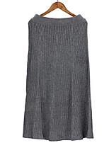 Недорогие -женские хлопковые миди качели юбки - сплошной цвет