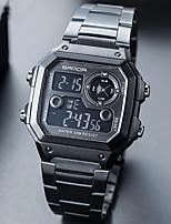Недорогие -Муж. Спортивные часы Цифровой Черный / Серебристый металл / Золотистый Календарь Секундомер Фосфоресцирующий Цифровой На каждый день - Синия / Черный Золотистый Розовое золото