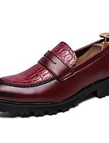 Недорогие -Муж. Официальная обувь Синтетика Весна & осень На каждый день / Английский Мокасины и Свитер Нескользкий Черный / Винный
