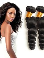 Недорогие -3 Связки Индийские волосы Свободные волны Натуральные волосы Wig Accessories Человека ткет Волосы Уход за волосами 8-28 дюймовый Нейтральный Естественный цвет Ткет человеческих волос Машинное плетение