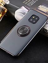 Недорогие -Кейс для Назначение Huawei P20 Pro / P20 lite Кольца-держатели / Ультратонкий / Прозрачный Кейс на заднюю панель Однотонный Мягкий ТПУ для Huawei P20 / Huawei P20 Pro / Huawei P20 lite