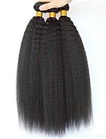 Недорогие -3 Связки Перуанские волосы Вытянутые 8A Натуральные волосы Необработанные натуральные волосы Подарки Косплей Костюмы Головные уборы 8-28 дюймовый Естественный цвет Ткет человеческих волос