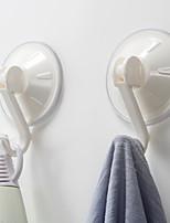 Недорогие -Крючки Креатив Modern ПВХ 2pcs Украшение ванной комнаты